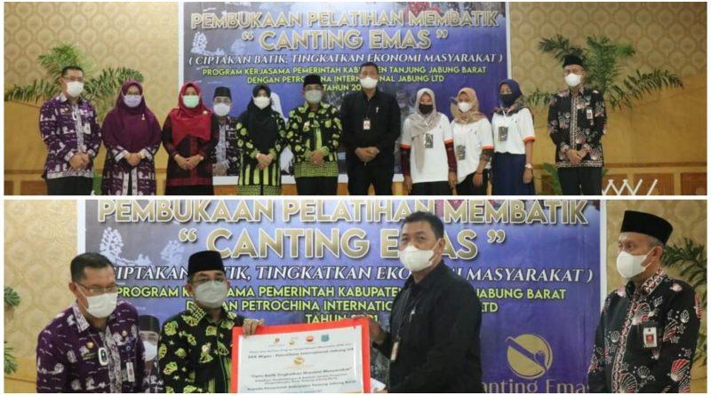 Tingkatkan Keahlian Perajin, PetroChina Jabung Gelar Pelatihan Batik CANTING EMAS